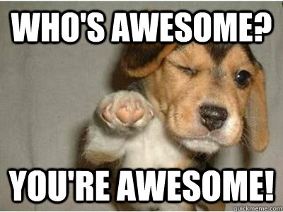 You guys areawesome!!