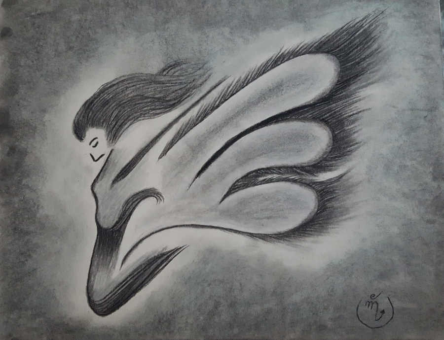 Woman – Charcoal Drawing