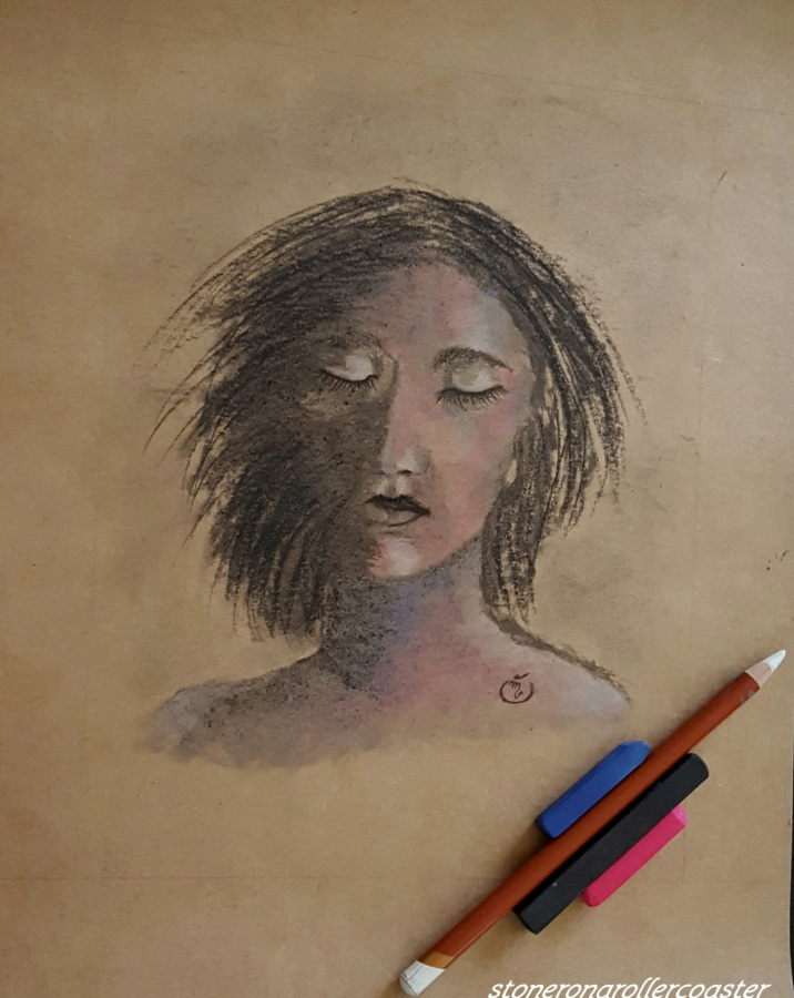 Another experiment- Charcoal &Pastels