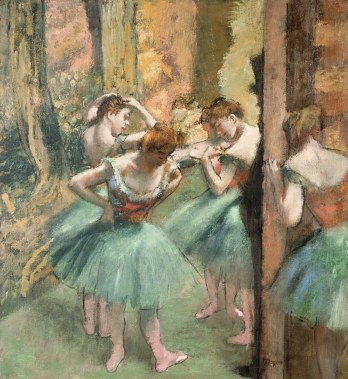 Working Title/Artist: Dancers, Pink and Green Department: European Paintings Culture/Period/Location: HB/TOA Date Code: Working Date: ca. 1890 scanned for collections